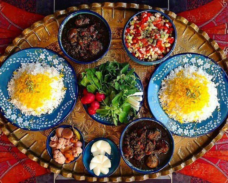 Ghorme Sabsi ist einer der originellsten iranischen Eintöpfe