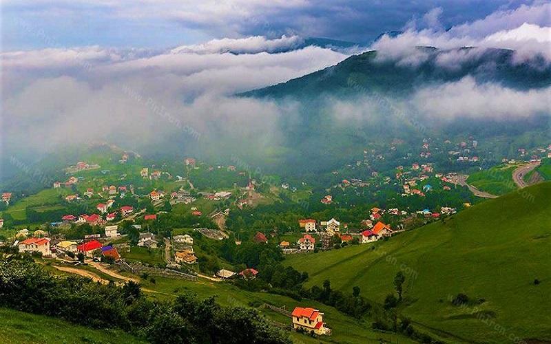 Das heyranische Dorf ist ein Beispiel für die iranische Natur