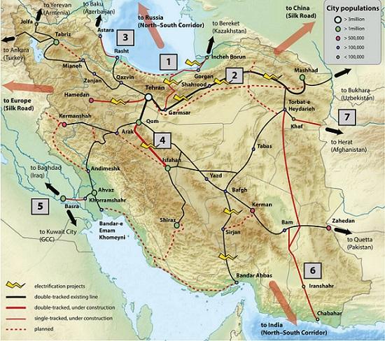 carte de train d'Iran
