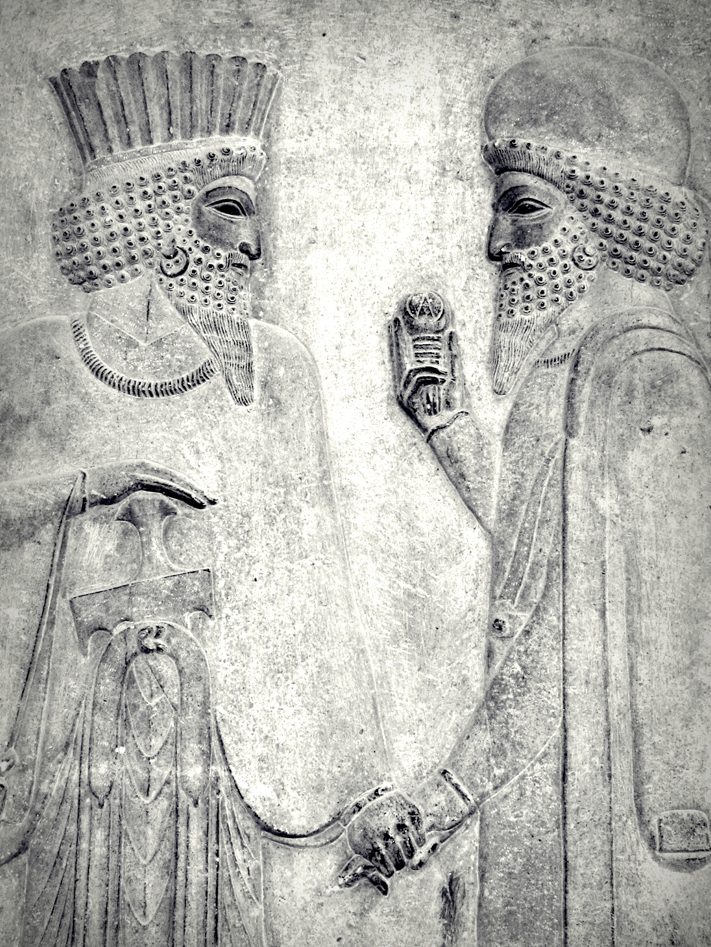 one of the reliefs in eastern stairs (Apadana palace )