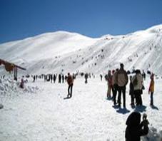 Iran, Sepidan,Polad kaf ski resort