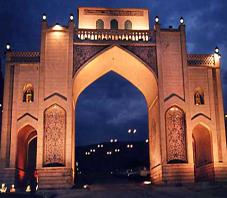 Iran, Shiraz, qoran gate