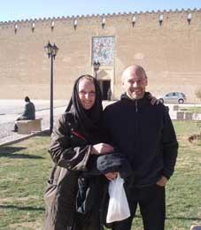 Iran hospitality, Shiraz, Muriel & Philippe