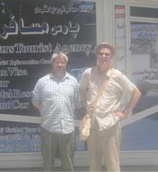 Iran hospitality, Martin Cookson