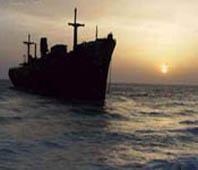 Iran, Kish, Greek ship