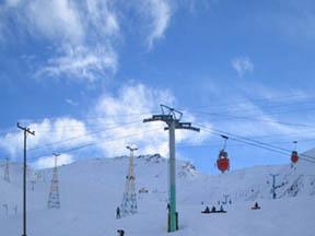 Iran, Tehran, Dizin ski resort