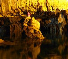 Iran, Hamedan, ali sadr water cave