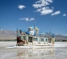Iran, West Azerbayjan, Uromia lake