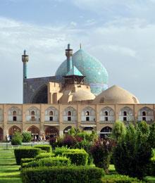 Iran, Isfahan, Shah mosque portal