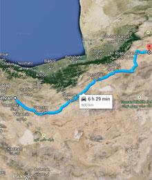 Iran, Tehran to Jajarm road