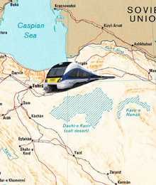 Iran, Tehran-Shahrud train